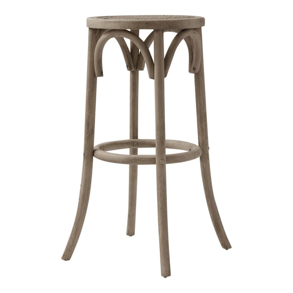 Aubignan Backless Breakfast Bar Stool In Lime Washed