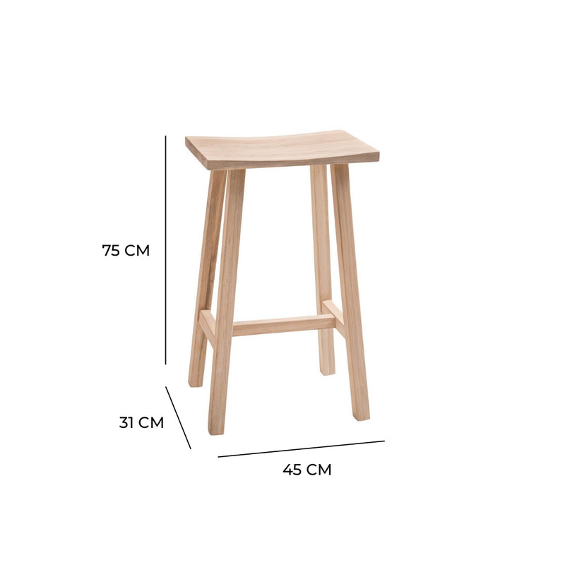 Hudson Breakfast Bar Stool In Raw Oak