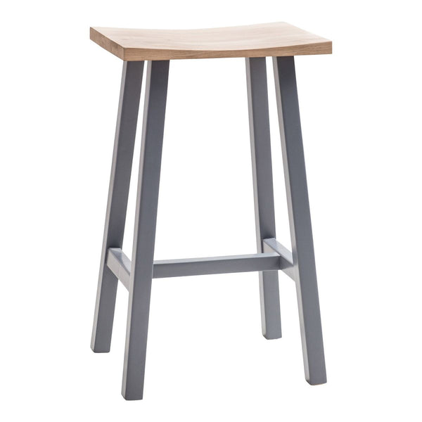Hudson Breakfast Bar Stool In Dove Grey