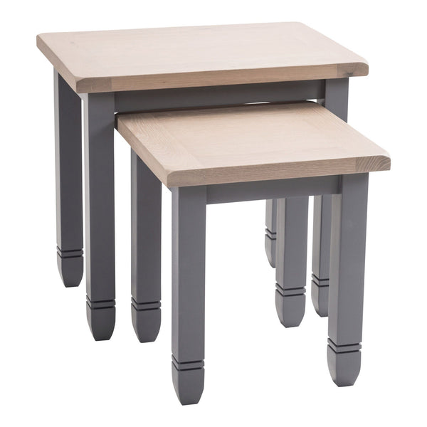 Faversham Nest Of Tables In Dove Grey
