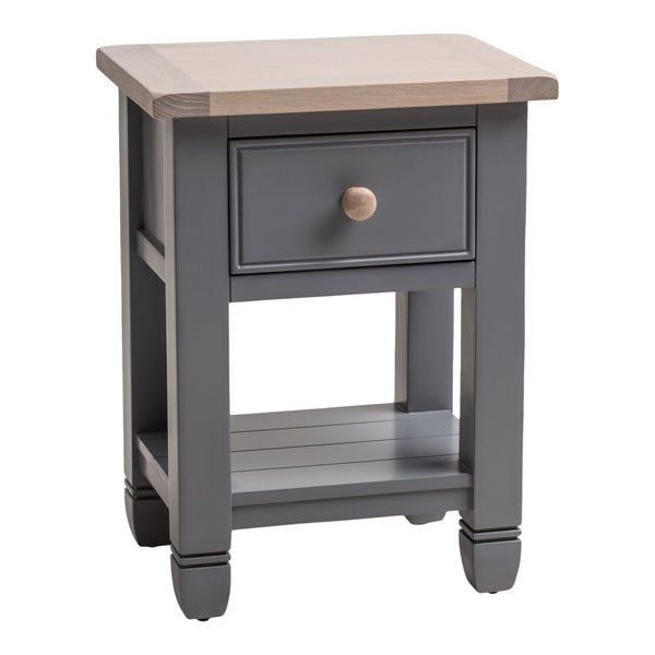 Faversham Bedside Table In Dove Grey