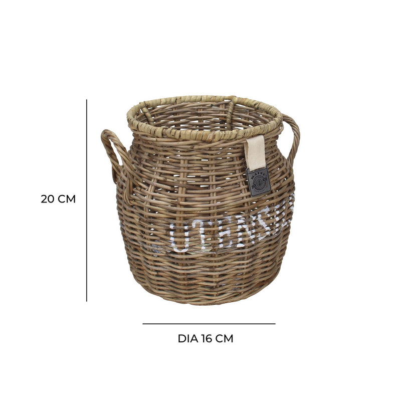 Key Largo Rattan Utensil Holder