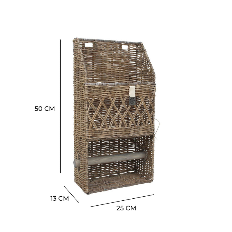 Key Largo Rattan Kitchen Roll Holder & Organiser