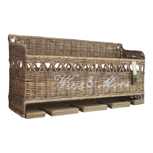 Key Largo Rattan Wine & Bottle Rack