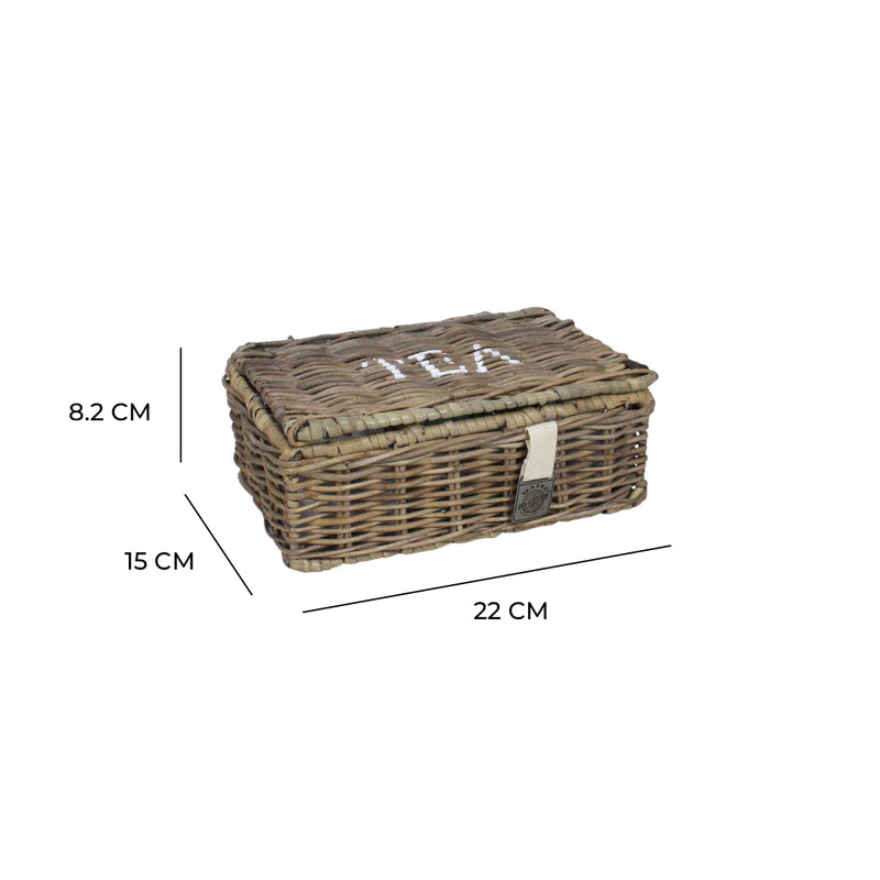 Key Largo Rattan Tea Storage Box