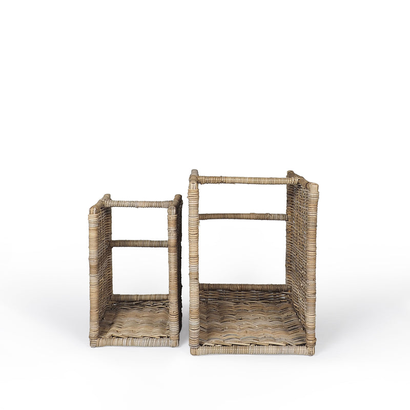 Key Largo Set Of 2 Standing Log Baskets