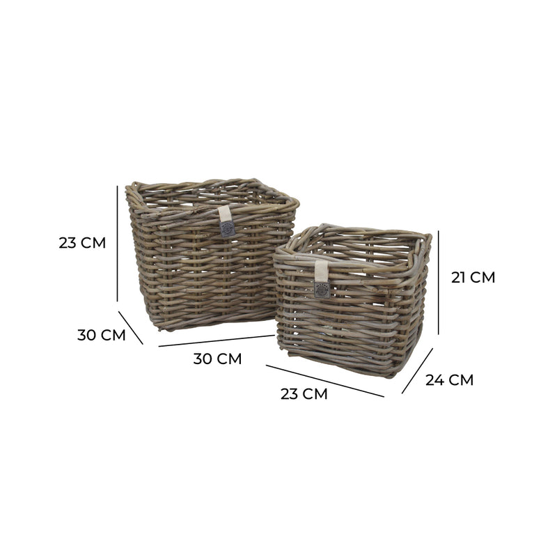 Key Largo Rattan Planter Set