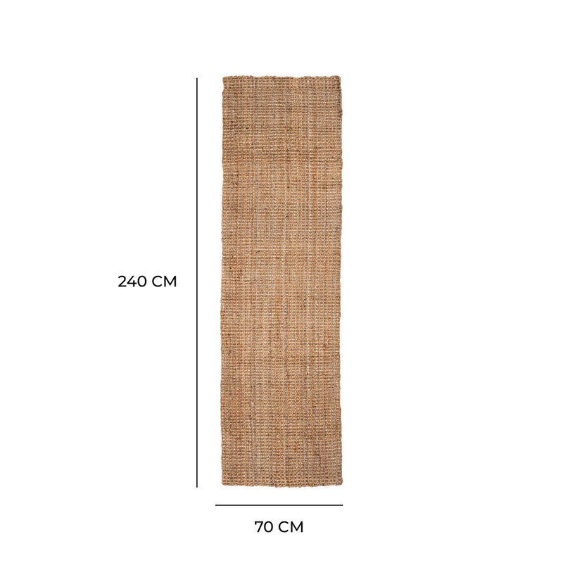 Westport Chunky Jute Boucle Natural Runner - 70 x 240