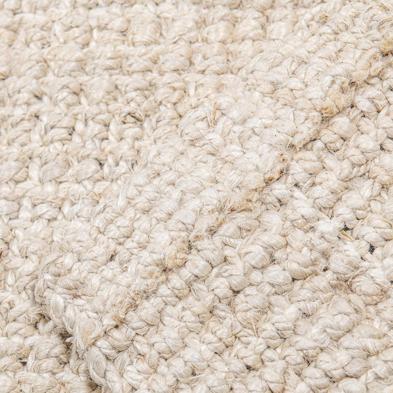 Westport Chunky Jute Boucle Natural Rug In White - 160 x 230
