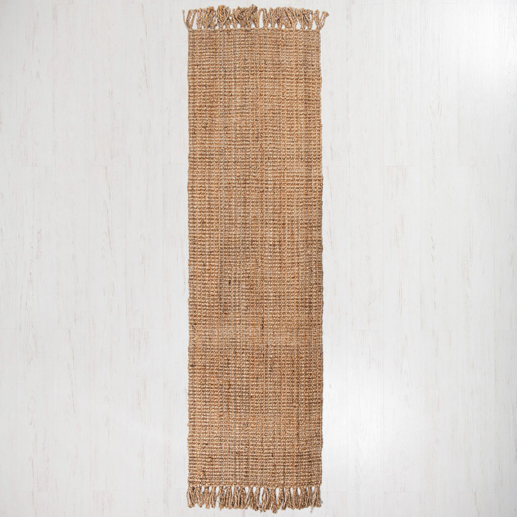 Georgetown Chunky Jute Boucle Natural Runner With Tassels