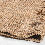 Georgetown Chunky Jute Boucle Natural Rug With Tassels - Large