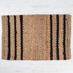 Grafton Jute Boucle Doormat Rug Black Stripe