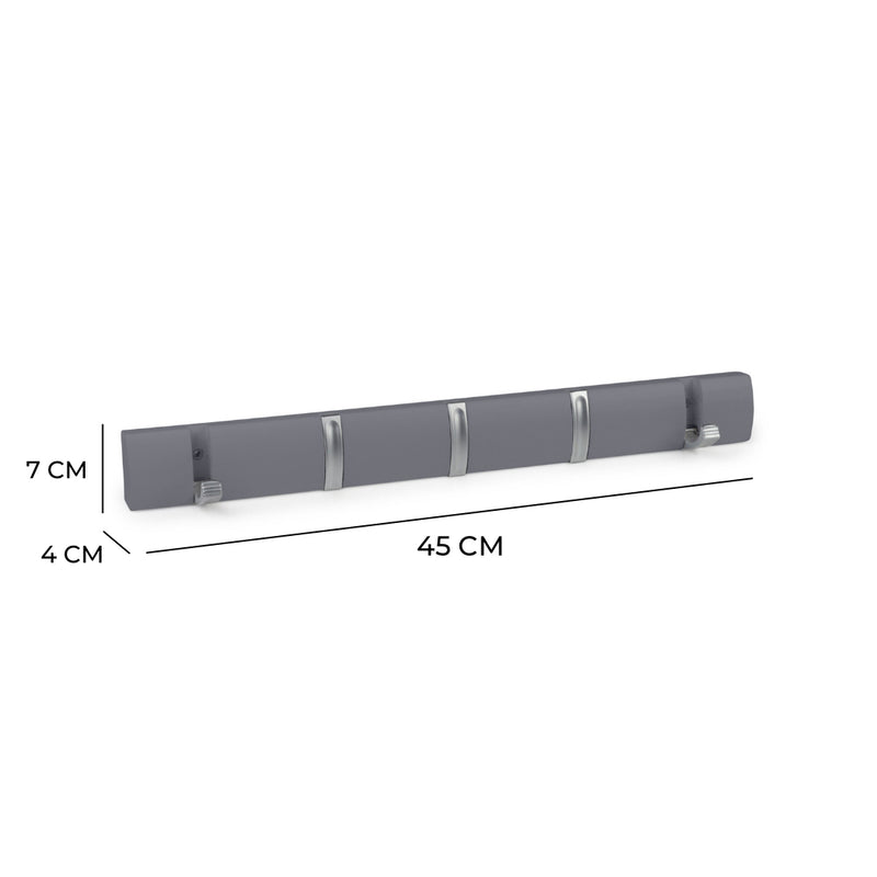 Hartford Fold Away Coat Hook Rack In Dove Grey