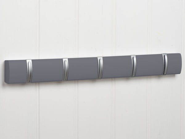 Hartford Fold Away Coat Hook Rack In Dove Grey™