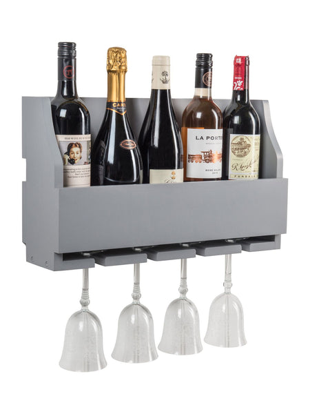 Rumford Wine Rack In Dove Grey