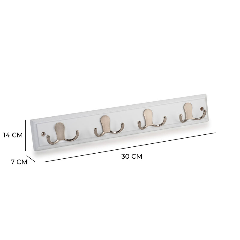 Amesbury Robe Hook Rack In Paris White