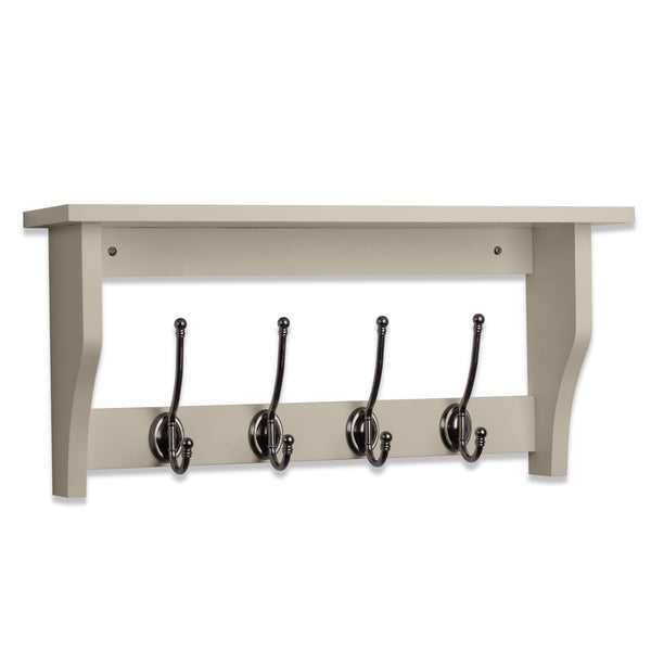 Lewiston Coat Hook Shelf In French Grey
