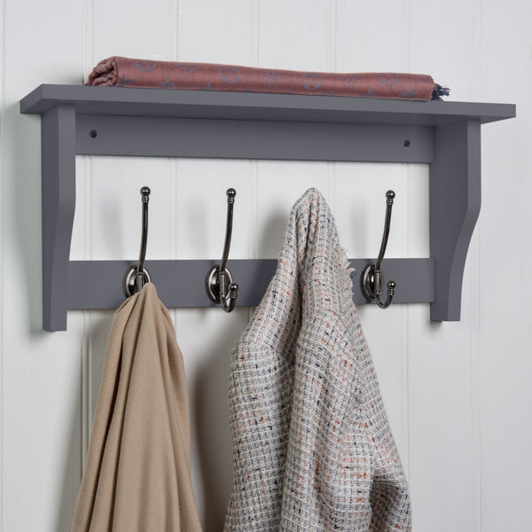 Lewiston Coat Hook Shelf In Dove Grey™