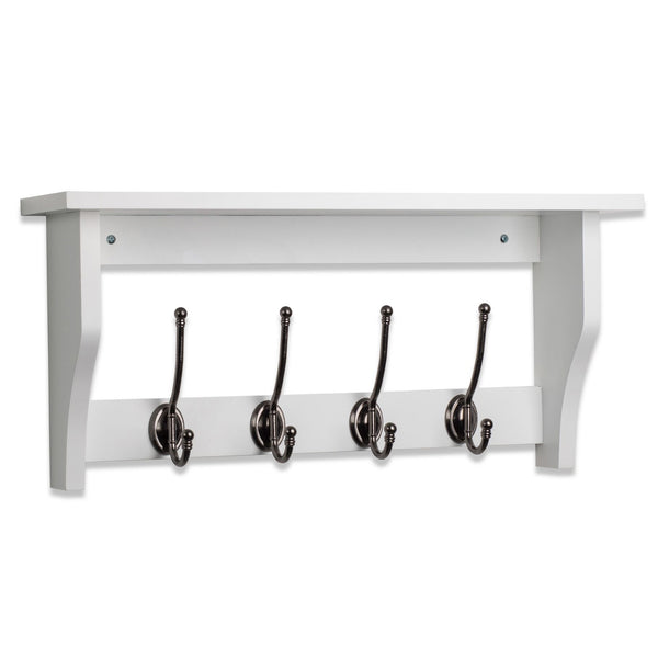 Lewiston Coat Hook Shelf In Paris White