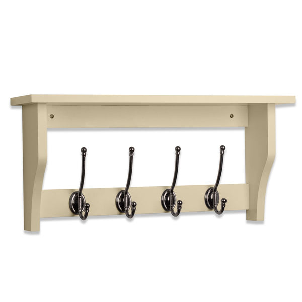 Lewiston Coat Hook Shelf In Cotswold Stone