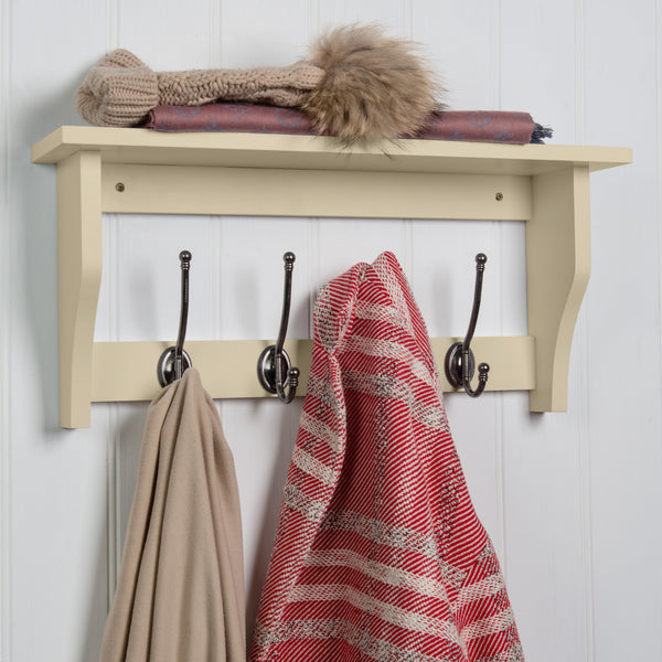 Lewiston Coat Hook Shelf In Cotswold Stone™