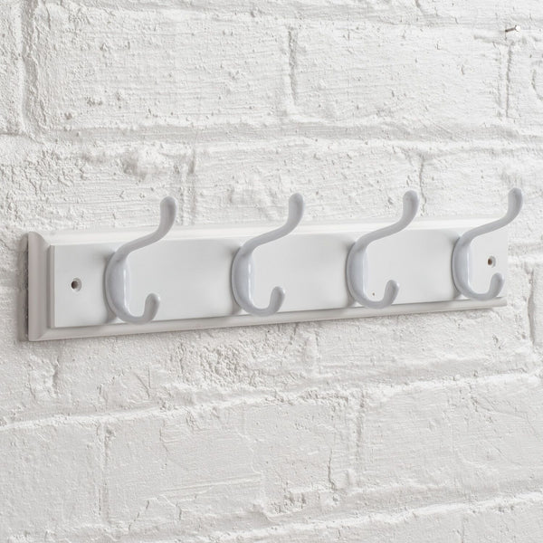 Searsport 4 Hook Coat Rack - White On Paris White