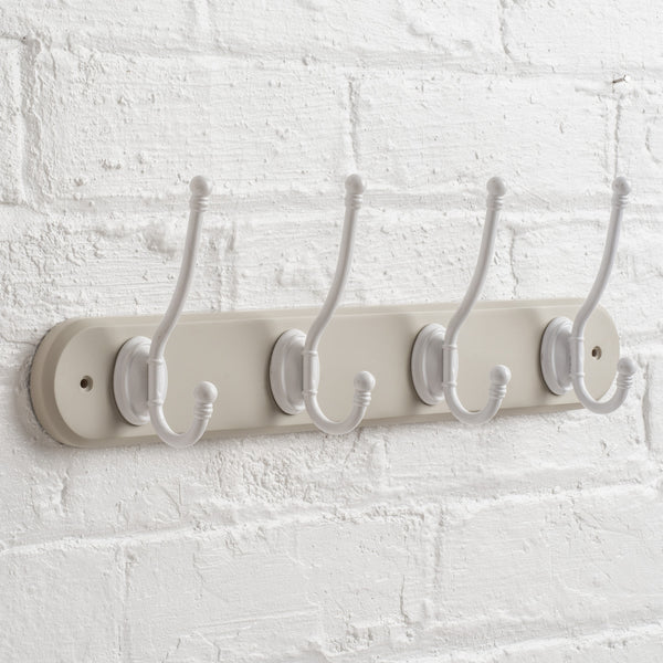 Riveaux Hat & Coat Hook Rack In French Grey
