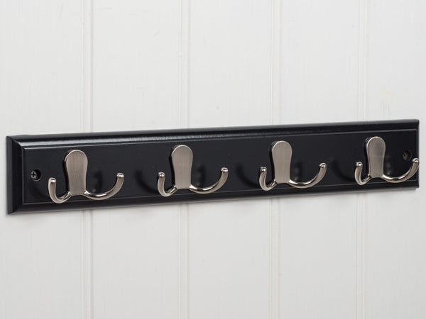 Amesbury Robe Hook Rack In Pitch Black