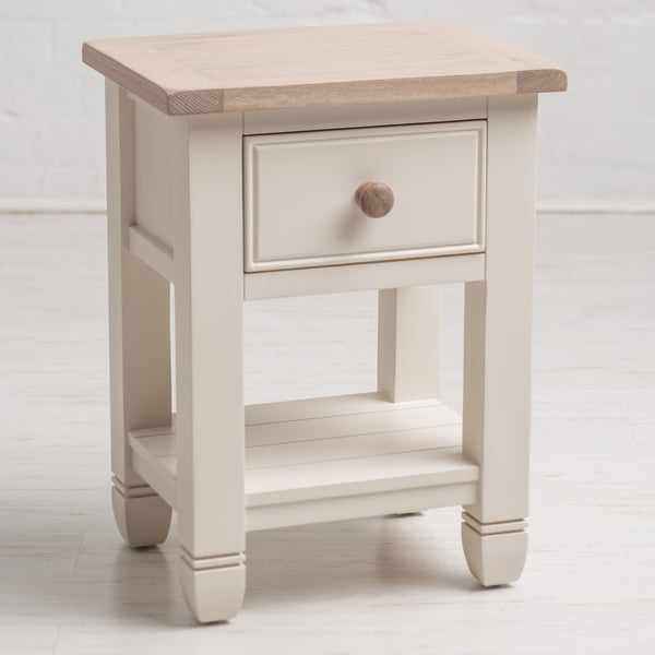 Faversham Bedside Table In Old White