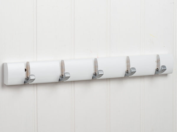 Hartford Fold Away Coat Hook Rack In Paris White™