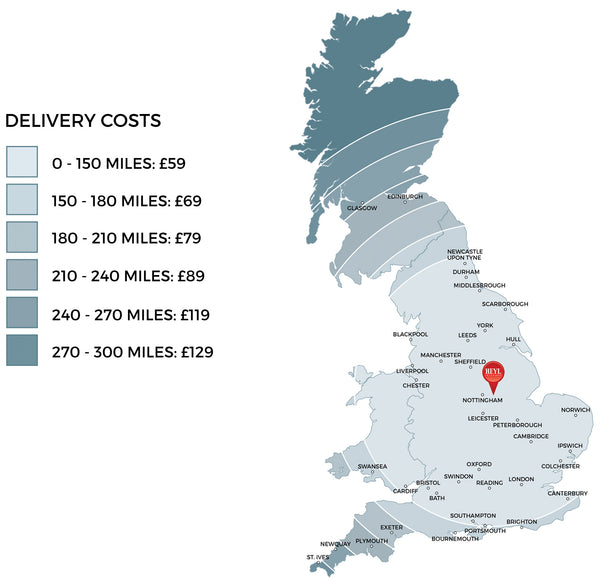 Heyl Interiors delivery map