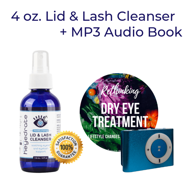 Rethinking Dry Eye Treatment MP3 Audio + 4 oz Heyedrate Lid & Lash Cleanser Books Eye Love, LLC