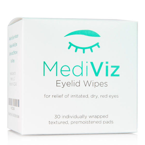 MediViz Eyelid Wipes | Eyelid Cleaning Wipes Dry Eye Supplement MediViz 30-Pack