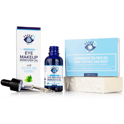 Makeup Remover Bundle | Tea Tree Soap and Eye Makeup Remover Dry Eye Supplement Heyedrate
