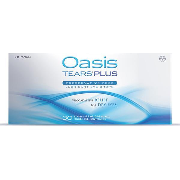 Oasis TEARS PLUS Preservative-Free Lubricant Eye Drops Dry Eye Supplement Oasis