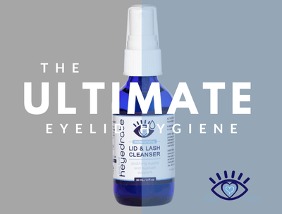 Heyedrate® Lid & Lash Cleanser (2 oz GLASS Bottle) Dry Eye Supplement Heyedrate