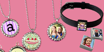 Bottle Cap and Slide Photo Jewelry
