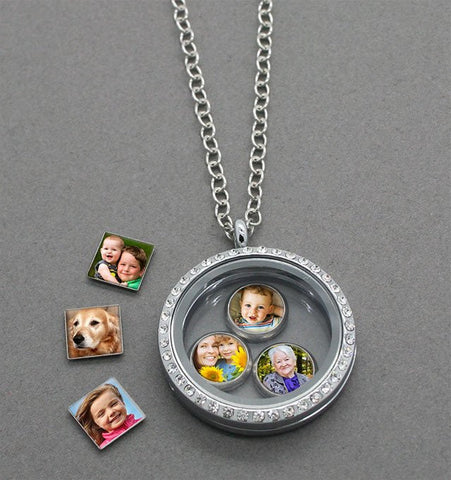 Floating Photo Locket For Mother's Day