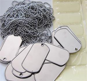 20 Pack Photo Dog Tag Supplies