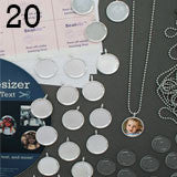Make 20 Complete 16mm Glass Top Photo Necklaces w/ Mini Ball Chains Kit