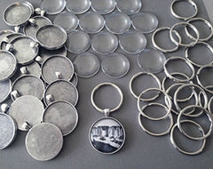 Makes 30 Photo Jewelry Key Chain Kit