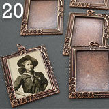 20 Pack Copper Large Vintage Portrait Style Frames w/ Glass