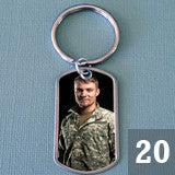 20 Pack Photo Dog Tag Keychain Supplies