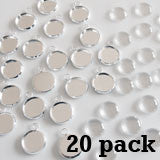 20 Pack Round Mini Photo Charms w/ Glass Domes 14mm