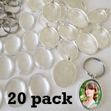 Oval 30 x 40mm Photo Keychain Supplies Pack Makes 20