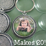 Vintage Round 30mm Photo Keychain Supplies Pack Makes 20 SP