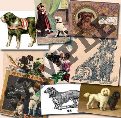 20 Pack Vintage Dogs Images Download - Photo Jewelry Making