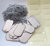 20 Pack Photo Dog Tag Necklace Kit - Photo Jewelry Making