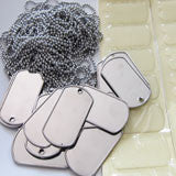 20 Pack Photo Dog Tag Necklace Kit