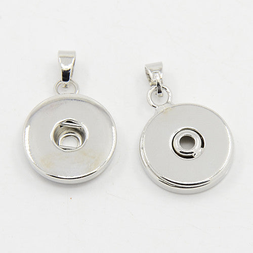 Interchangeable Snap In Photo Jewelry Pendant Setting w/ Bail